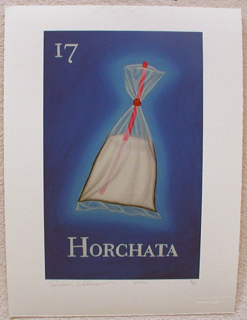 Horchata in a bag - so cute!      Source:  http://www.etsy.com/listing/91711603/horchata-rice-milk-loteria-art-print?ref=sr_gallery_42&ga_search_query=loteria&ga_order=most_relevant&ga_view_type=gallery&ga_ship_to=US&ga_page=9&ga_search_type=all
