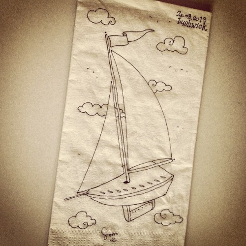 no wind.. #nyonmynapkin #napkin #illustration #sketch #brooklyn #newyork  (at Bushwick, Brooklyn)