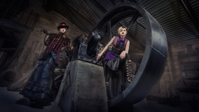 Steampunk Adventures 	Model: Sloan, and Lexi Lemke, Clothing Made/Styled by: Sheepish Couture, Makeup/Hair: Amilee Hagon @ 3-Valley Gap Ghost Town    	Shot during my workshop with Chris Clearimages in Revelstokes while explaining how lines and diagonals worked to create a shot.    	I'm finally in Montreal and looking to throw some projects together in Toronto in the near future… if anyone's around… let me know :)  	Follow the journey: http://www.vonwong.com/blog/a-tale-of-benjen-stark-and-a -tale-of-ben-von-wong/