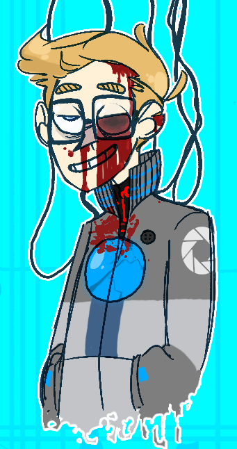 mrblusky:  i havent drawn gory stuff in a long time wow rolls away