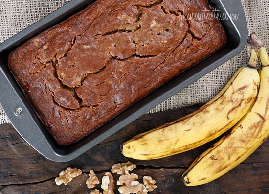 healthier-habits:  Low Fat Banana Nut Bread - Insanely moist banana nut bread without all the fat! Recipe Link: skinnytaste.com Click here for more healthy recipes!