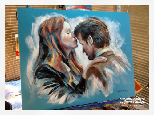 "Latest Speed Painting - ""Don't Be Alone"" (Doctor Who - 16"" x 20"" Acrylic on Canvas) Ah! Sometimes it's nice to just do a big splashy painting inbetween fiddly, complicated ones. This one took around 40 minutes, all in all :) I'll stick it on the eBays a little later on today. Okay - in the mood to put more paint on canvas! 'Ere we go! xMy site / My Facebook / Original Art on eBay"