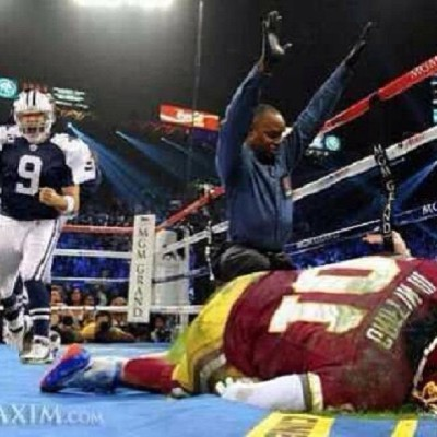 Down goes RG3! #Romo #RG3 #Redskins #Cowboys #NFL #Boxing #Football #Sports #Manny #Pacman #Pacquiao #lol #lmao #funny #hilarious #comedy