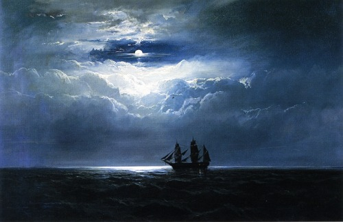 fleurdulys:  The Convinct Ship T.K. Hervey  - James Hamilton 1864