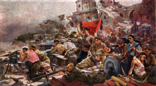 Defense of the Brest Fortress in 1941 by E. Zaitsev. (via)