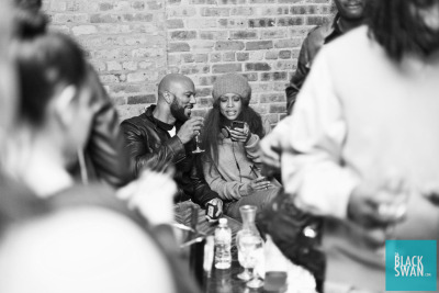 dablackswan:  Common & DJ Lowdown Loretta Brown (erykah badu) hanging out backstage at The Mid. Like our Facebook page https://www.facebook.com/BLACKSWANFAN