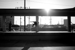 Jordan Maxham filming for the new Brain Farm skate film.