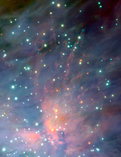 viddyspace:  ESO - eso0104b - The Orion Nebula and Trapezium Cluster (detail)  Credit: ESO/M.McCaughrean et al. (AIP)