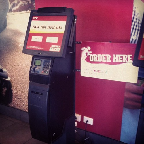#fastfood is getting even faster! #kfc #hightech #cardonly