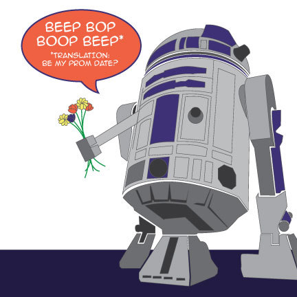 Who could turn away this lil guy!? He IS the droid you're looking for! Get your Promic-Con tickets RIGHT NOW.