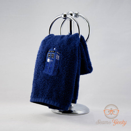 TARDIS hand towel! Why do I love this so much!