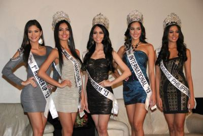 "Bb. Pilipinas 2013 Winners Meet & Greet Binibining Pilipinas Gold presented its newly proclaimed winners at the Gateway Cineplex more than a week after a magnificent coronation night staged at the Smart Araneta Coliseum which was made even more meaningful with the special appearance of almost 70 former Binibining Pilipinas beauty queens.The winners have been busy in several television guest appearances and are about to indulge in a rigorous training program that will include personality development, beauty sessions, and the like to be conducted by seasoned beauty and television experts. Being the newest celebrities of the country, the new queens' schedules are also replete with sponsors visits and tourism activities that usually abound during the summer.On May 18, the Golden Batch as they are called will be the main stars in the traditional Araneta Center Grand Santacruzan that will traverse the roads of the shopping complex. Other past contestants and queens are expected to grace this glittering event. The ladies will be wearing gowns done by leading Filipino and international designers.Binibining Pilipinas 2013 is presented by the Araneta Center, ABS-CBN, CreamSilk with major sponsors San Miguel Brewery, Petron Corporation, San Miguel Power, Ginebra San Miguel and San Miguel Food. Other sponsors are Casino Filipino, PAGCOR, Avon, Lactacyd, Philippine Airlines, Jag Jeans, and Manhattan Garden City. Service sponsors are EDSA Shangri-La Hotel, Manila Bulletin, Pizza Hut, David's Salon, Gold's Gym, Philippine Daily Inquirer, Joylong Van, Picture City, Dale Carnegie Training Center, Entrepreneur School of Asia, Charter, Ping An Insurance Corporation, Raymond Saldana Photography and Rightspot Electronic Media.Here is the complete roster of the Binibining Pilipinas Gold winners:Ariella Arida, 24Miss Universe Philippines 2013, Best in SwimsuitAlaminos, Laguna native Ariella graduated with a degree in Chemistry from the University of the Philippines – Los Baños. She is a keen sportswoman, having tried swimming, volleyball, and now running. She recently ran a 21K. She also did ramp modeling after graduating from college. Her beauty queen idol is Venus Raj. She likes watching Venus's pageant videos because she wants to emulate the way she moves and speaks. Apart from bagging the Miss Universe Philippines title, Ariella also won the Best in Swimsuit award. Ariella will be one of the candidates in the 62nd edition of the Miss Universe pageant this year. Miss Universe is one of the biggest and most prestigious beauty pageants held annually. Bea Rose Santiago, 23Binibining Pilipinas-International 2013, Miss AvonA Communications student majoring in Public Relations at the York University in Toronto, Canada, Bea was born in the Philippines, but she and her family moved to Toronto when she was 14. Bea moved back to the Philippines to try her luck in the Binibining Pilipinas pageant. She now lives on her own here in the Philippines. She is a Gawad Kalinga Ambassador who plays the banduria and would like to promote her province, Masbate, through joining the pageant. Apart from winning the Binibining Pilipinas-International title, Bea also won the Miss Avon special award. Bea will be representing the country in this year's edition of the Miss International pageant. The Miss International pageant aims to promote world peace, goodwill, and understanding.Joanna Cindy Miranda, 20Binibining Pilipinas-Tourism 2013,Miss CreamSilk, Miss PetronCindy used to be a noontime show co-host. She decided to resign from the show because she really wanted to join Binibining Pilipinas. She used to be very shy in person even when she was already working as a TV host.Despite her achievements, Cindy wants to maintain her simplicity. Cindy also won the Miss CreamSilk Beyond Beautiful and Miss Petron special awards. She will be the Philippines' representative in the Miss Tourism Queen International pageant, an annual international beauty pageant held in China.Mutya Johanna Datul, 21Binibining Pilipinas-Supranational 2013, Miss Photogenic, Best in Long GownMutya describes herself as a ""simpleng probinsyana na may matayog na pangarap."" As a young girl in Isabela, she helps catch salagubang in the fields, which they make into a delicacy. She says Binibining Pilipinas is her ""ultimate dream."" She has watched the pageant since she was a little girl, and has since wanted to be one of the queens. In her spare time, Mutya likes to listen to music and sing. Her beauty queen idol is Venus Raj, because ""nakikita ko ang buhay ko sa kanya, na nabuhay sa hirap, pero nagsikap. Sa kanya ko nakita na hindi imposible na makamit mo yung pangarap mo."" Mutya turned 21 a few days after winning one of the crowns. Apart from winning the new Binibining Pilipinas-Supranational title, Mutya also bagged the Best in Long Gown and Miss Photogenic awards. Mutya hopes to do well in this year's Miss Supranational pageant slated on September 6 at Belarus. The Miss Supranational pageant is a fairly new international pageant established in Poland in 2009. Pia Wurtzbach, 23Binibining Pilipinas 1st Runner Up, Miss San Mig Zero Fit and Sexy Body Half-German Pia is from Cagayan de Oro. A former ABS-CBN talent under the screen name Pia Romero, Pia believes being a beauty queen is different from being an actress. She believes being a beauty queen requires one to be herself and presentable at the same time. One thing that most people don't know about her is that she's approachable and can get along with anybody.Apart from landing the first runner up honors, Pia also won the Miss San Mig Zero Fit and Sexy Body award. Sponsors/Special AwardsNICOLE DONESA. Miss Philippine AirlinesA talented singer who used to perform in various Fil-Am events in the United States, eighteen year old Nicole will certainly be busy promoting a good image for the country and its official carrier as Miss Philippine Airlines.ANNA CARMELA AQUINO. Miss TalentThis twenty-two year old educator from Taytay wowed the audience during the Talent Competition held at the Gateway Suites with her world class dancing skills, a gift that has brought her to performances abroad.LOURENZ GRACE REMETILLO. Miss FriendshipDespite the pressures and rigors of the competition, this twenty-five year old Iligan City lass has managed to maintain cordial relations with the rest of the candidates, proving that the journey is just as important as the crown.ELLORE NOELLE PUNZALAN. Manila Bulletin's Readers ChoiceA veritable jill of all trades, Ellore Noelle was named as Manila Bulletin's Readers Choice for this year. As a person who dabbles in musical theater, painting, taekwondo, basketball and volleyball, she will certainly be very interesting for the readers of Manila Bulletin. MA. TERESITA ALAINE BACCAY. Best in National CostumeThe grace by which she carried her Filipiniana costume simply took the judges' breath away. Even as a child, she used to fashion ""gowns"" out of her curtains and practice her walk, a practice that certainly augured well for her to bag the Best in National Costume award.IMELDA SCHWEIGHART. Miss PagcorImelda Schweighart from Puerto Princesa will certainly be a good ambassador for PAGCOR's charitable projects, especially that which espouses more schoolrooms for the country's poor children."
