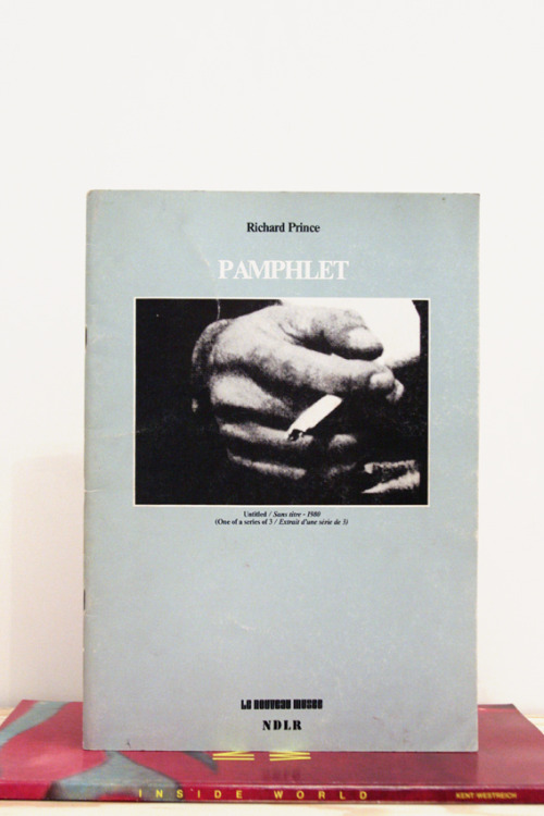 "Richard Prince, Pamphlet ""I didn't mean to kill him. I know I did…but it really wasn't my fault. I couldn't help it. You gotta believe me. I didn't know my own strength."" Le Nouveau Musee Villeurbanne, France, 1983 11.5 x 8 inches (29.21 x 21.59 cm) $1600 Purchase"