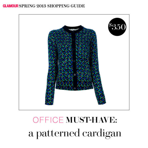 How cute is this Kenzo cardi? Shop this and other office must-haves, over on Glamour.com.