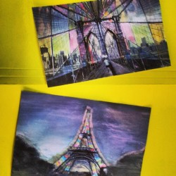 My painted photographs. #watercolor #diy #art #photography #places #chill #dream