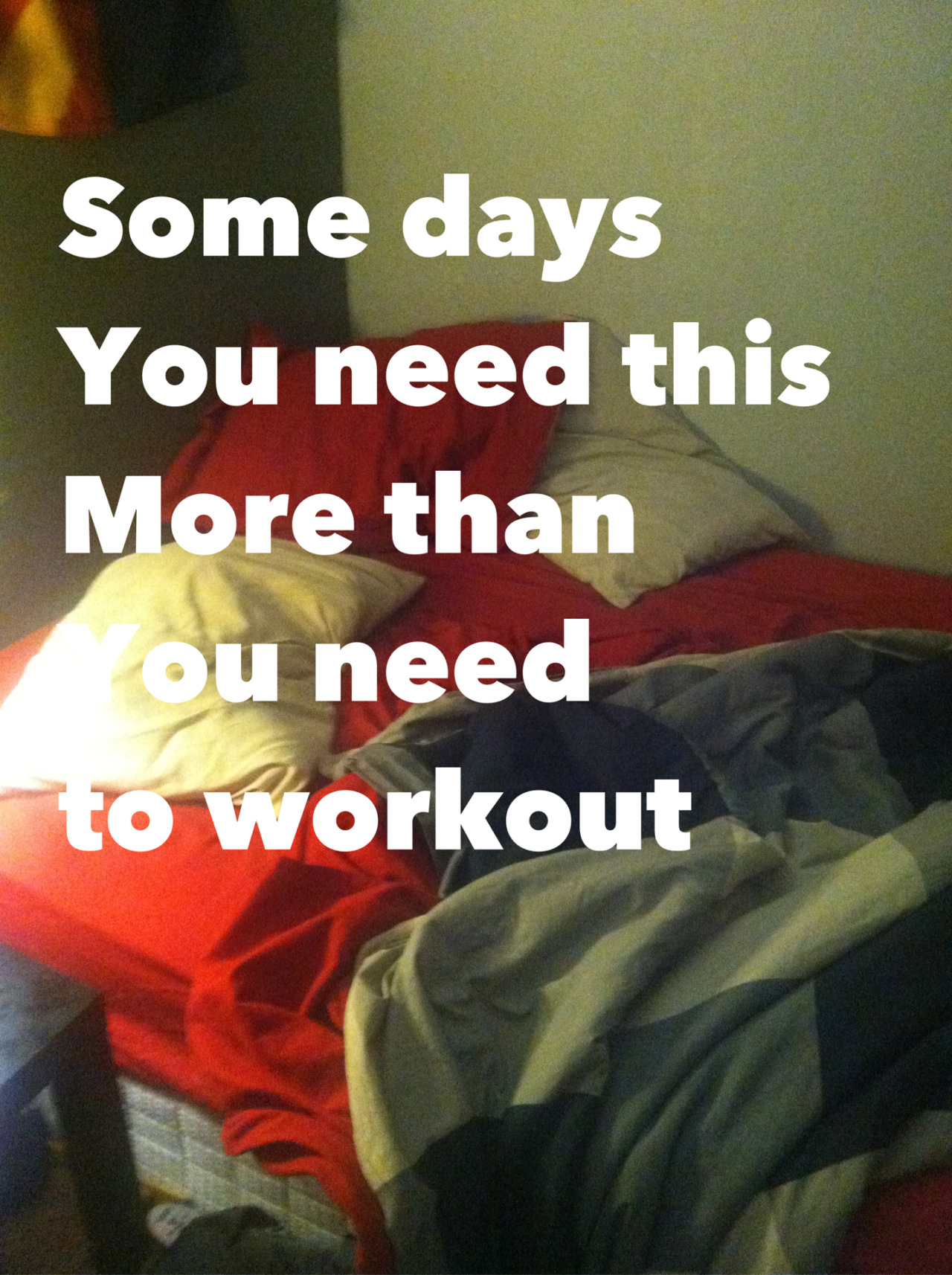 fitnessluvr:  Yes! So true…listen to your body. I did the last two days, you can too..