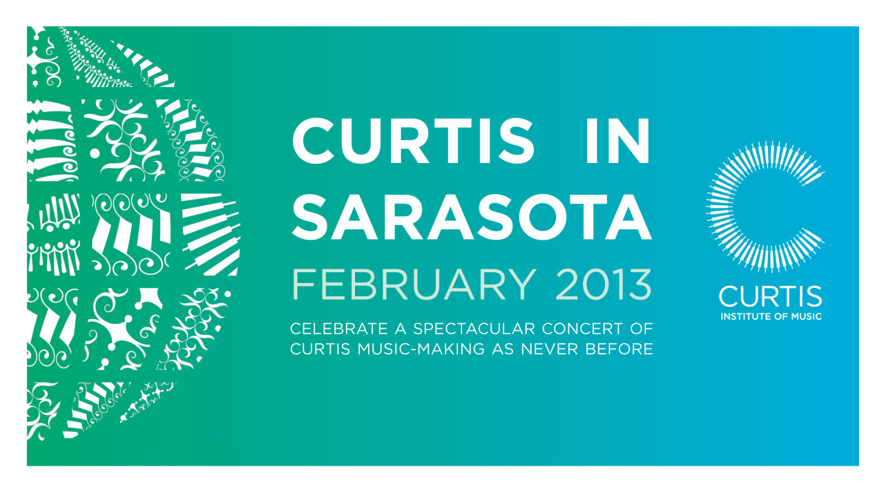 Curtis On Tour performs in Sarasota's intimate Jane B. Cook Theatre tonight. The school's connection to Sarasota dates back to the 1930's, when alumnus David Cohen founded the ensemble that later became the Sarasota Orchestra. Today Curtis On Tour makes regular visits to Sarasota, returning for the sixth consecutive year.