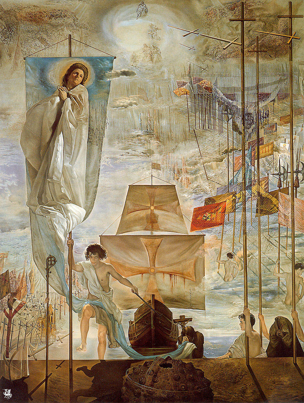 The Discovery of America by Christopher Columbus (1959) by Salvador Dalí