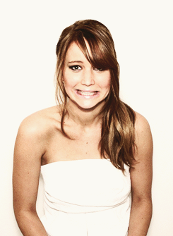 Jennifer Lawrence in the CNN Photo Booth at the Oscar Luncheon