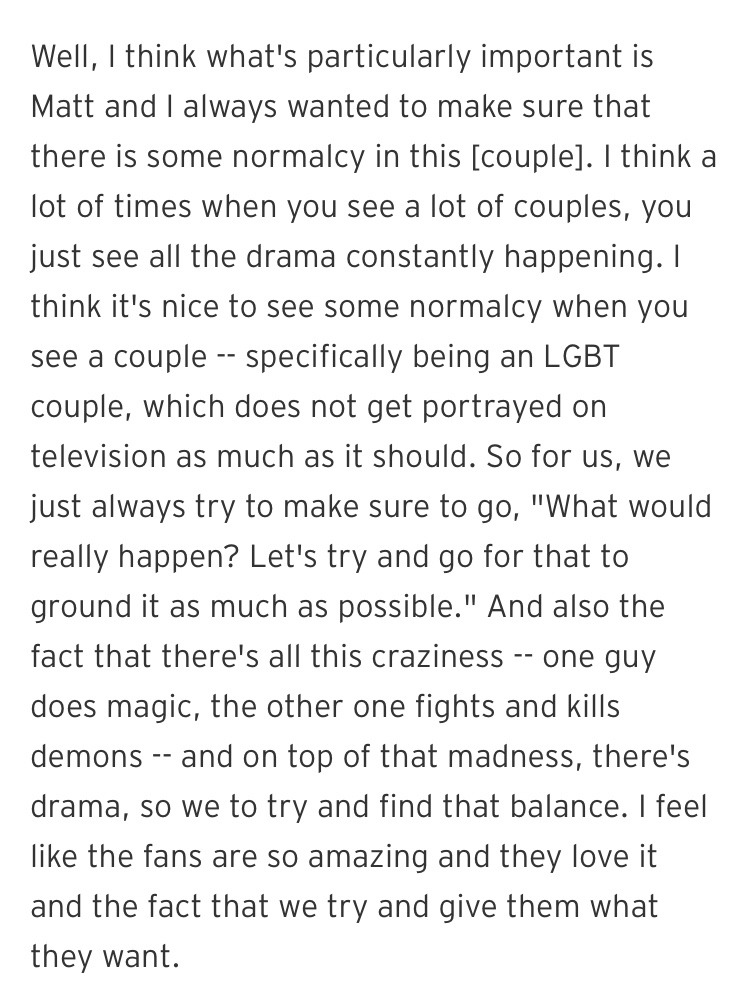 Harry Shum Jr about being part of Malec