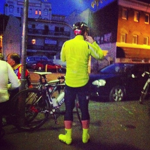 I embrace HiViz.. As captured by.. (at MostDefinitelyNotStarBucks)