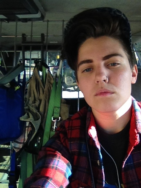 veganweedsoup:  i'm so ultra glamorous in my butch dog van while being covered in dog kisses, dirt and sweat.