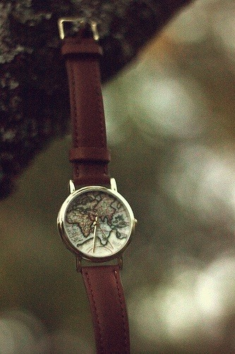 A watch every traveler would like to have.  (via)