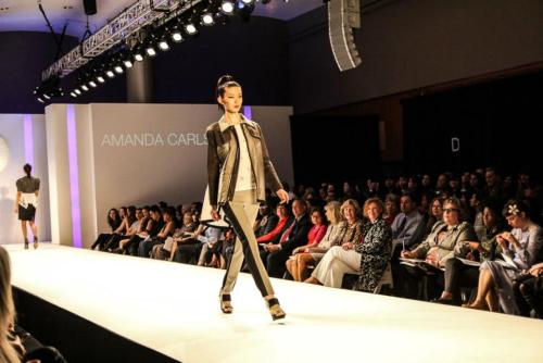 My senior thesis look going down the runway!