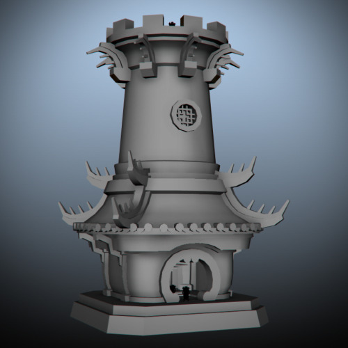 Working on a Pandaren inspired watch/guard tower.