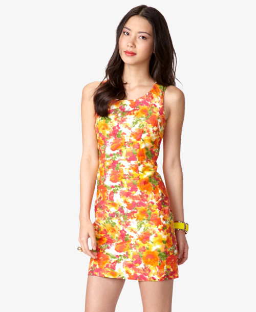 Essential Watercolor Sheath Dress Forever21.com - $29.80