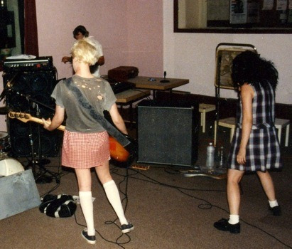 pastelgrrrl:  Kathleen Hanna, Style Icon - Riot Grrrl, Bikini Kill, Le Tigre on We Heart It - http://weheartit.com/entry/3058316/via/catiaia   Yes and yes