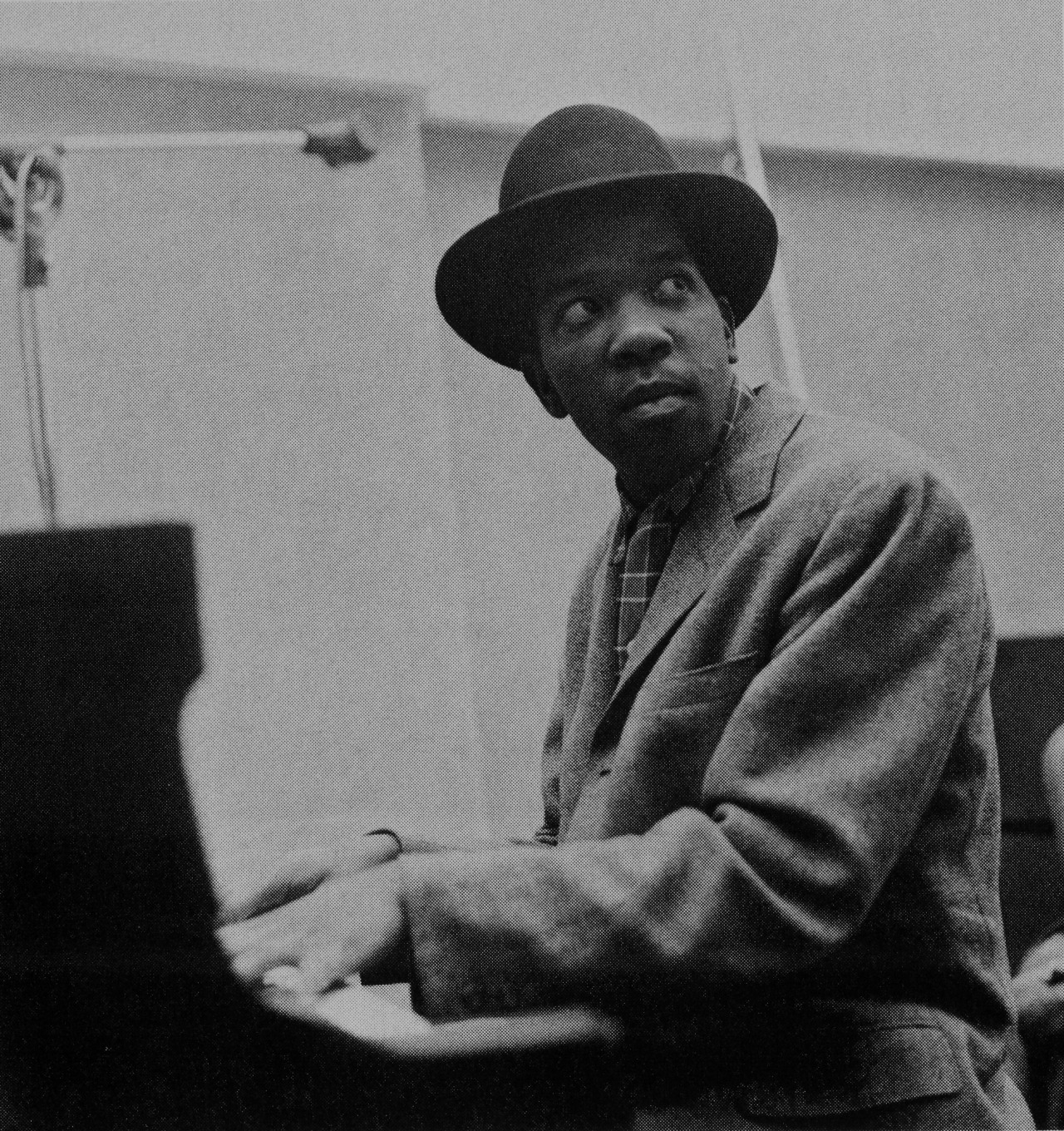 "bainer:  Sonny Clark at Stanley Turrentine's Stan ""The Man"" Turrentine session, NYC January 1960 (photo by Chuck Stewart)"
