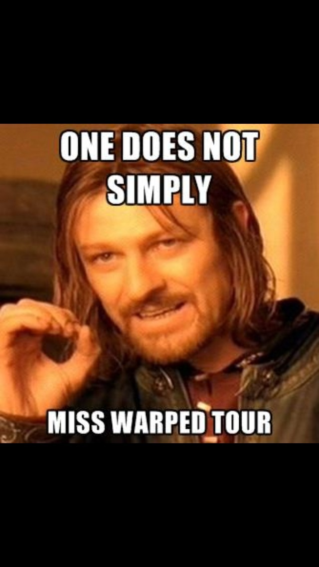 For all my warped fans that go every year out of tradition like me