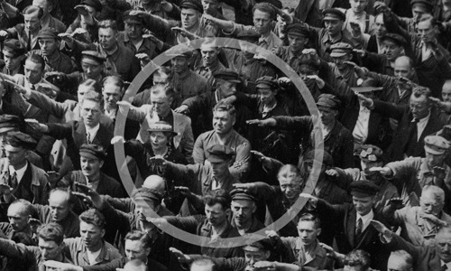 Be this man. http://en.wikipedia.org/wiki/August_Landmesser