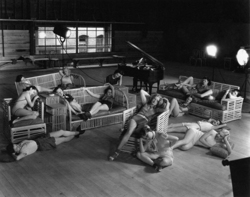 knackered Albertina Rasch dancers from Broadway Melody of 1936. photo by Clarence Sinclair Bull, 1935