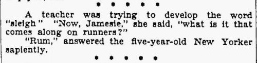 yeoldenews:  Smart kid. (source: The Sheboygan Press, October 15, 1931.)