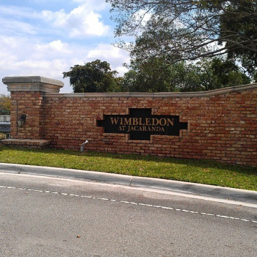 Wimbledon Lake at Jacaranda -a beautiful community of town homes  Plantation, Florida. If you are in the market for either buying, selling or leasing, please don't hesitate to contact to contact me directly @ 561-542-1359 or visit my website http://www.StevenBastian.com #ColdwellBanker #RealEstate #Plantation #Broward #SouthFlorida #Florida#Townhouse #RealEstaeSales  (at Wimbledon Lake Drive)