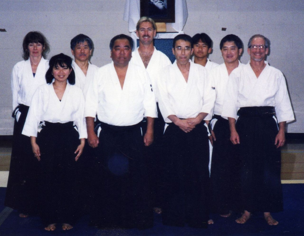 Aikido Association of America's National Instructors Seminar with Fumio Toyoda Shihan and guest instructor Kengo Hatayama Shihan Northeastern University, Chicago IL, April 22-26, 1998. Picture provided by Chushinkan Dojo.