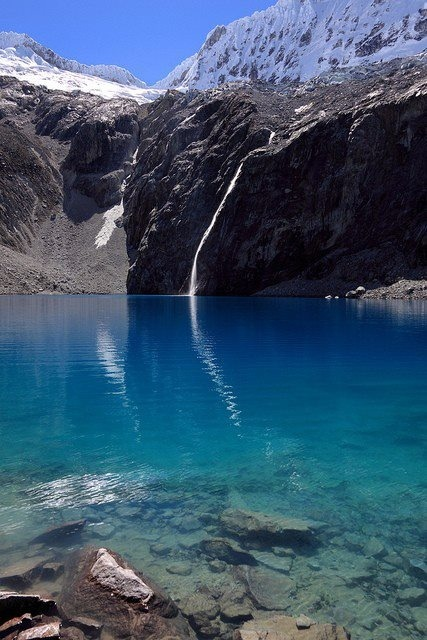 Glacial Lake, Huaraz, Peru photo via jaquelyn