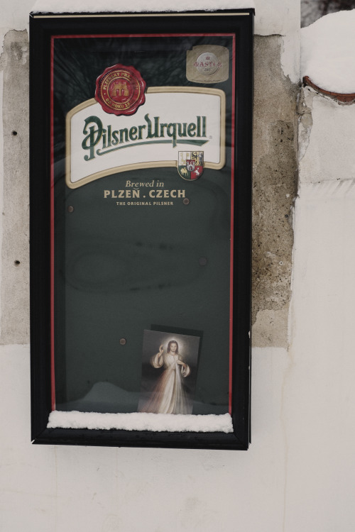 Jesus in a beer advertisement hell