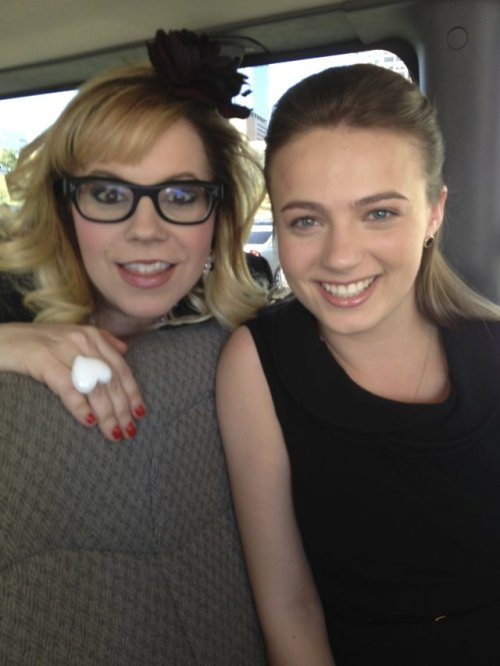 captainhera:  lildevilmongoose:  This is Kirsten Vangsness with Emma Marcus, one of the actresses playing one of Strauss' daughter in the finale. It certainly looks like they're dressed for a funeral, all in black. I can't see why her daughter would be going to any other team member's funeral which leads me to the horrible conclusion that it's Strauss that dies in the finale :(     Well this is one hell of a spoiler….thanks for that.  I dont even know why I care anymore but fuck everything if Erin dies.