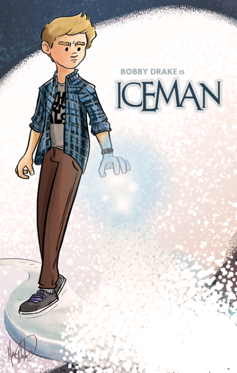 Iceman!I don't think about it all that much because I enjoy working on my own original work, but if I got the chance to run with any established spandex canon I think I'd want Iceman. He seems like a very underutilized character in the Marvel 'verse.