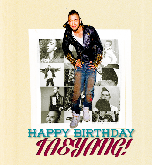 Happy 26th Birthday, Taeyang! Firstly, Thank you for everything. Thank you for existing and thank you for being such an important figure in my life. I owe it all to you and your music. You are an amazing man with a good heart and strength and there are so many things I adore about you. This year, the only thing I wish for is for you to be happy and safe, wherever you are. I love you. Happy birthday, love. ♡