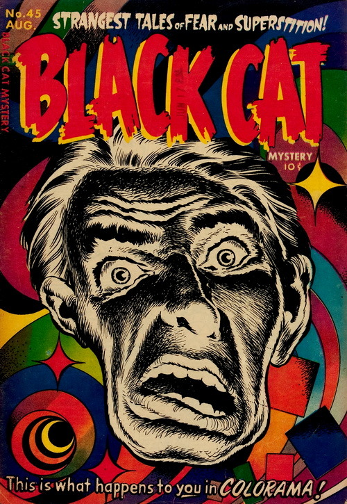 Black Cat Mystery (No.50, 1954)Cover Art by Howard Nostrand