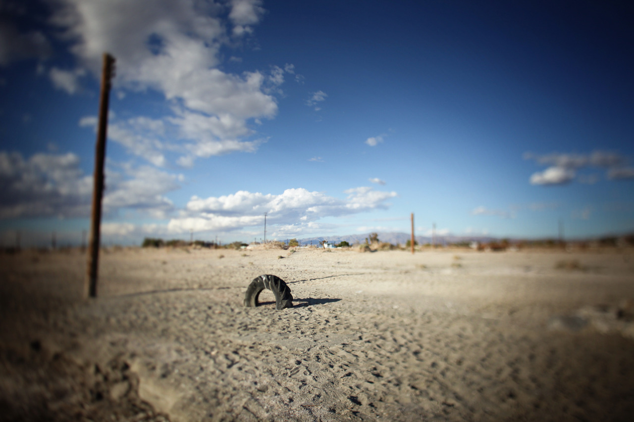 01.06.13 : photo.a.day - tire in the desert, salton sea, california.softservegirl.com / archives / about