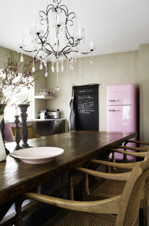 eyecandy: pink smeg fridge (via desire to inspire - Latest Home & Delicious)