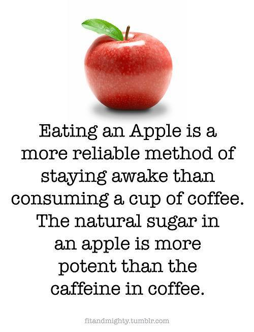 myveganlife:  Well, I love apples AND coffee! :)
