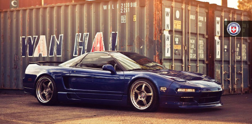 "automotive-lust:  '97 Acura NSX (yay for the rare mid-engined cars from Japan! lol) on 18"" HREs"