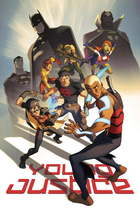 youngjusticer:  The team. YOUNG JUSTICE, by Phil Bourassa.