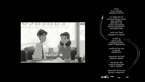 "See, this is the thing I love about Paperman. It ends here. it doesn't go on to say ""And then they dated, got married, and lived happily ever after,"" it leaves the ending ambiguous. Undeniably happy, but ambiguous. It could be they pursue a romantic relationship, or it could be that their relationship remains a friendship. And both outcomes are considered equally good. It presents that it's not the nature of the relationship that makes an ending happy, it's the existence and pursual of a relationship. It's beautiful and unique and we need more like it."